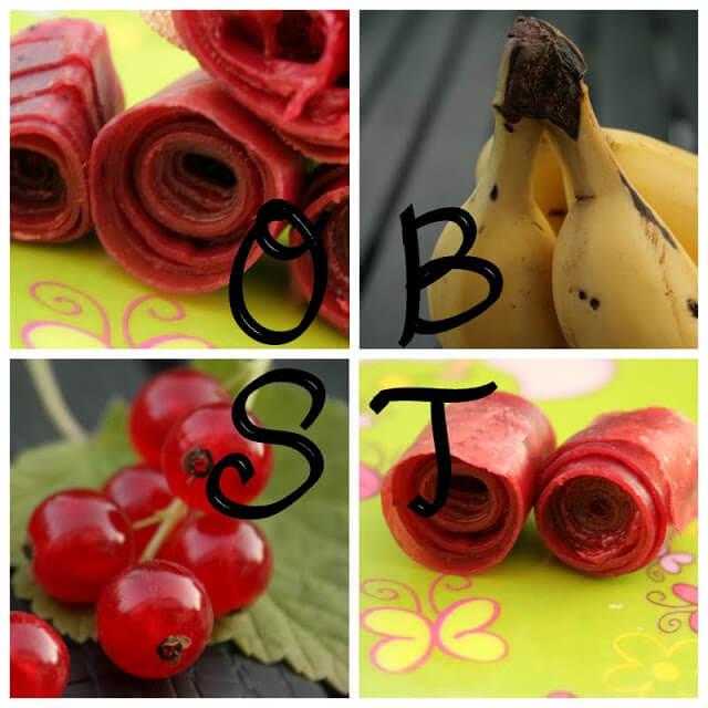 Fruchtleder aus Banane und Johannisbeer