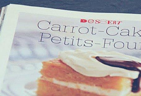 Rezept für carrot cake Petitfours
