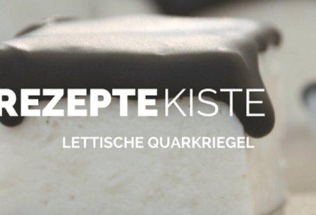 Lettischer Quarkriegel mit Schokoglasur