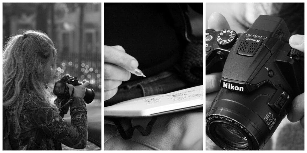 Fotografiernde und zeichnende Bloggerinnen