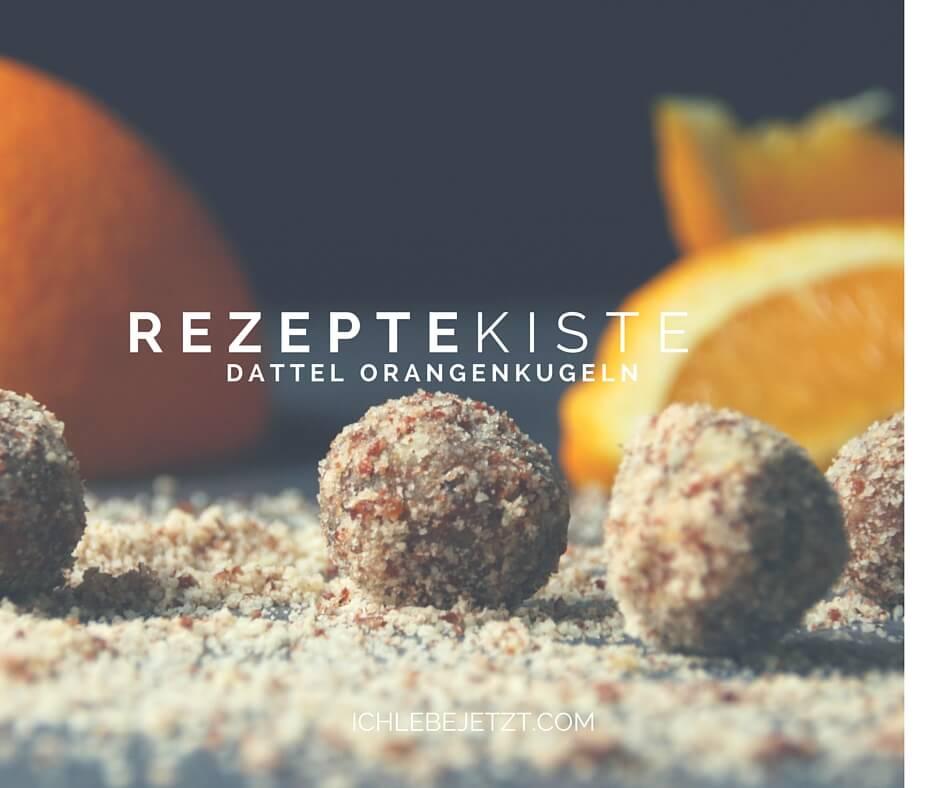 Dattel Orangenkugeln