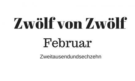 Zwölf von Zwölf – Februar Zweitausendsechzehn