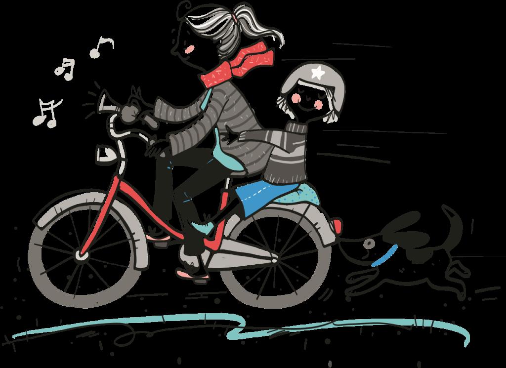 Man kann als Eltern nicht immer gelassen sein! (Illustration Sabine Frielinghaus in Die Fibel der Gelassenheit, Ellert&Richter2017)