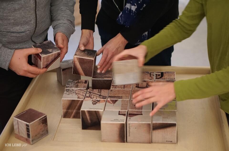 Puzzlewürfel mit Cadolzburg-Bild