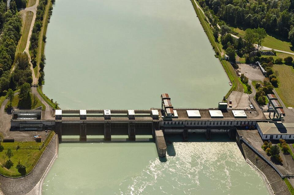 Innkraftwerk bei Feldkirchen von oben