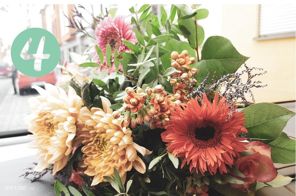 Blumenstrauß im Winter