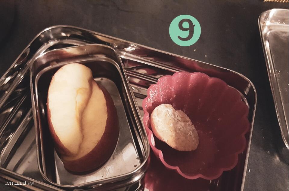 Frühstücksbox mit Resten