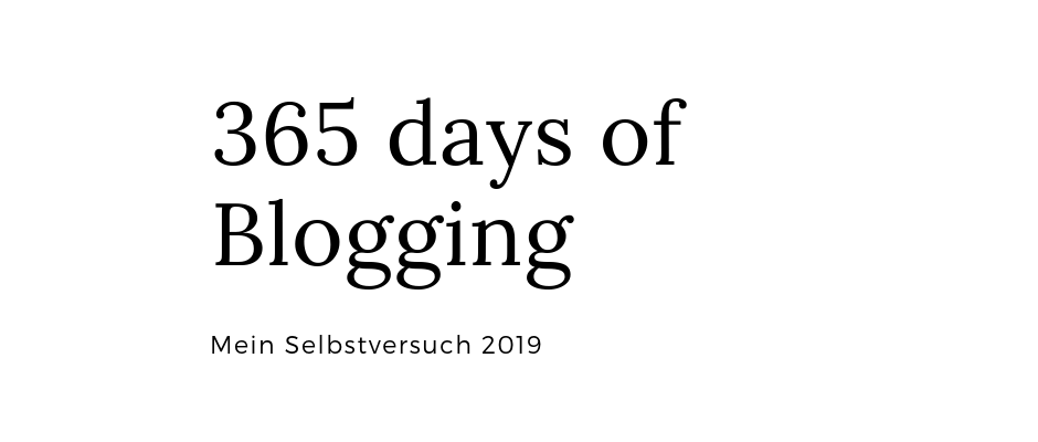 365 days of Blogging – 2