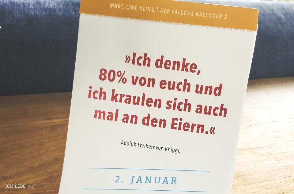 Kalenderblatt Der Falsche Kalender