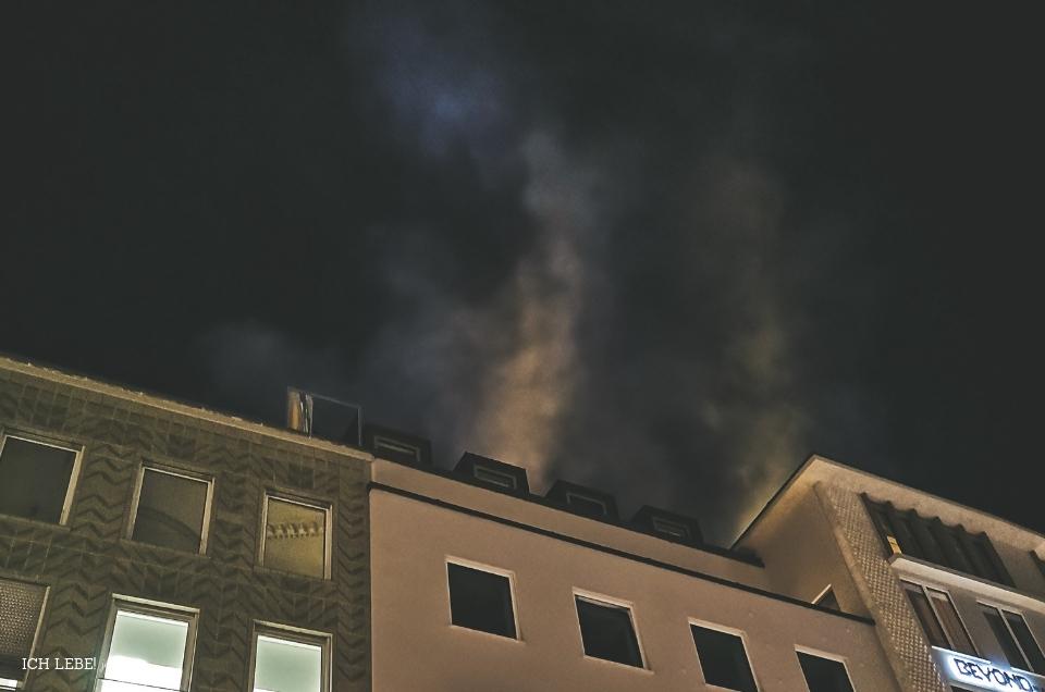 Brand in München am Marienplatz