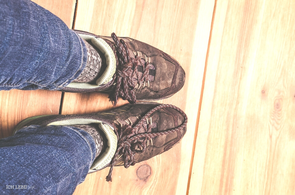 Falsche Schuhe angezogen.