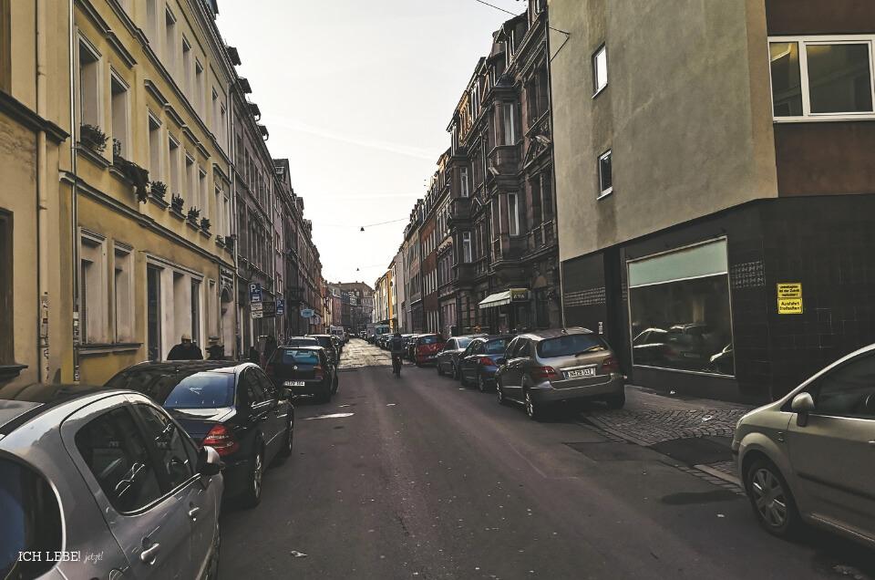 Straße in Nürnberg Gostenhof