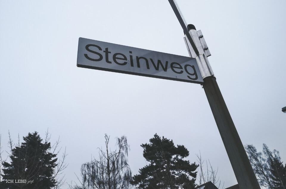 Straßenschild: Steinweg