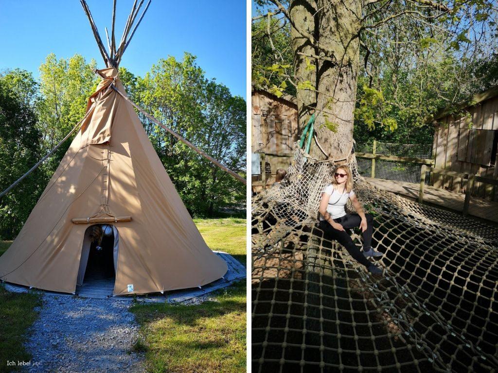 Tipi und Baumhaus in der Jugendherberge Lauterbach