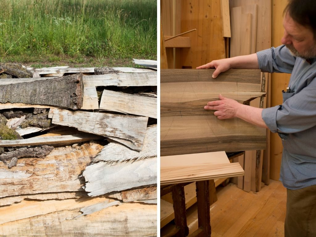 Althols versuch hocheettig verarbeitetes Holz