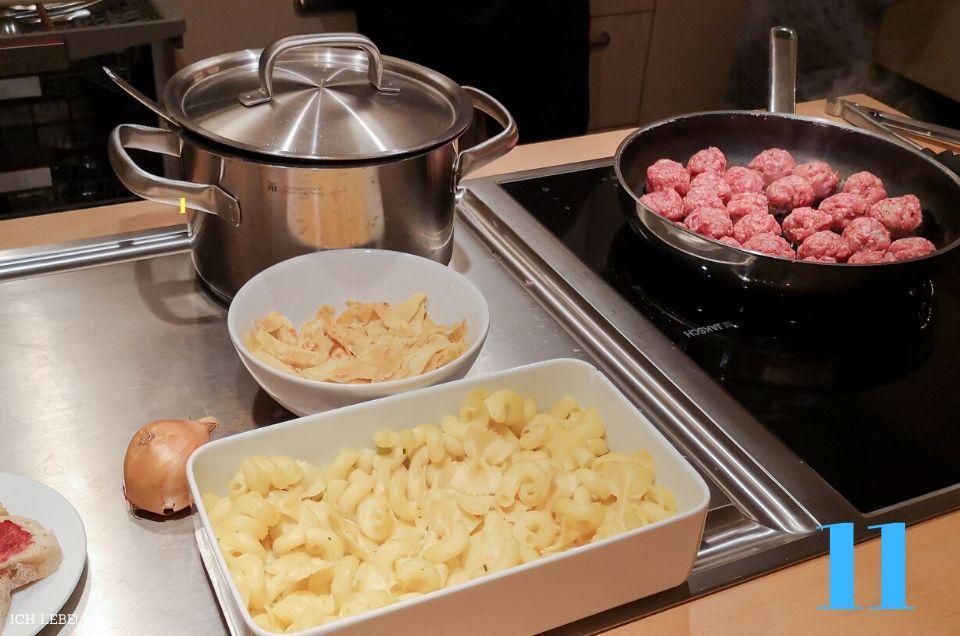 Abendessen in Vorbereitung