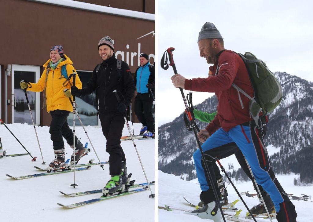 Geführte Skiwanderung.
