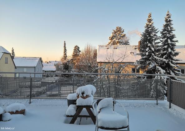 Morgensonne mit Schnee