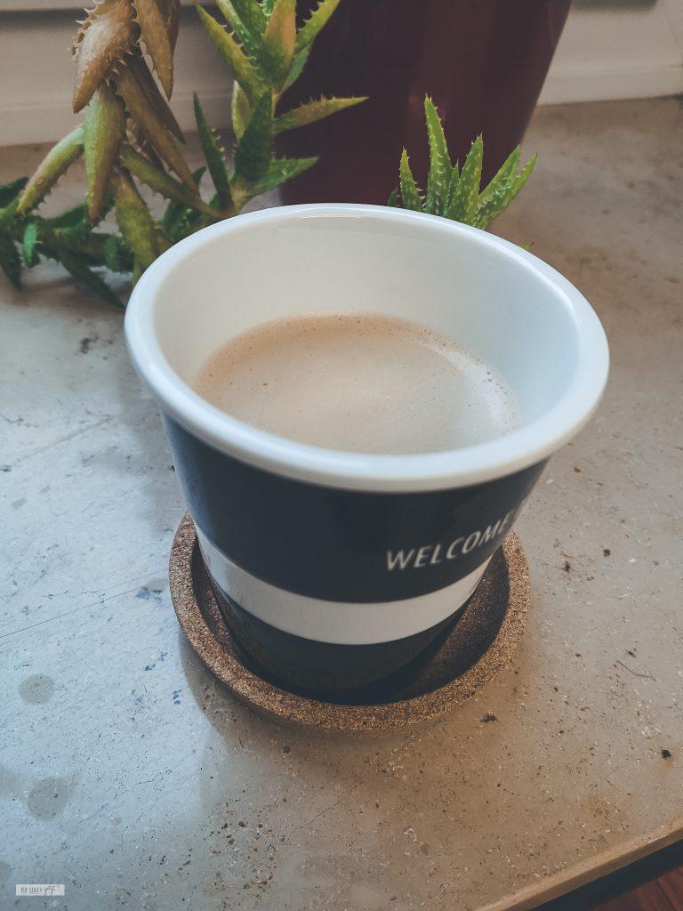 Endlich Kaffee.