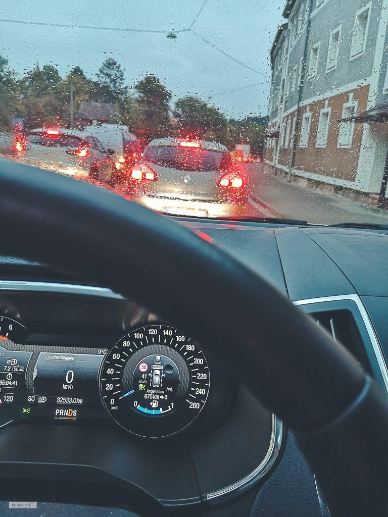 Auf dem Weg zur Arbeit
